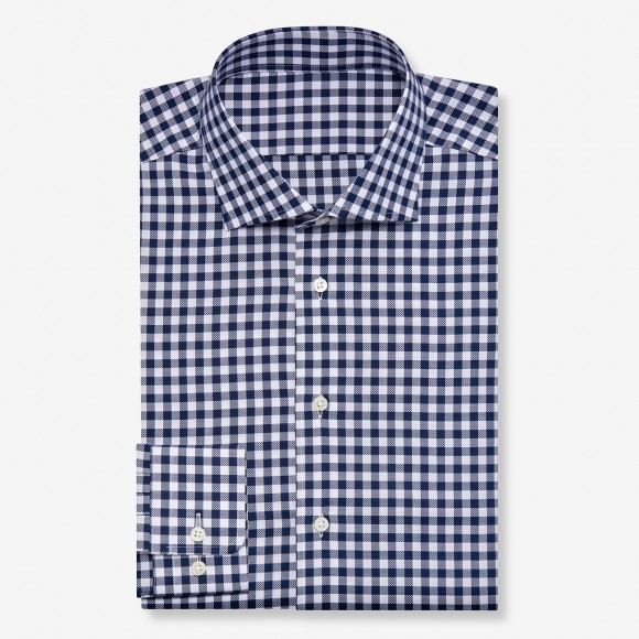 The Soft Gingham Check(black) シャツ