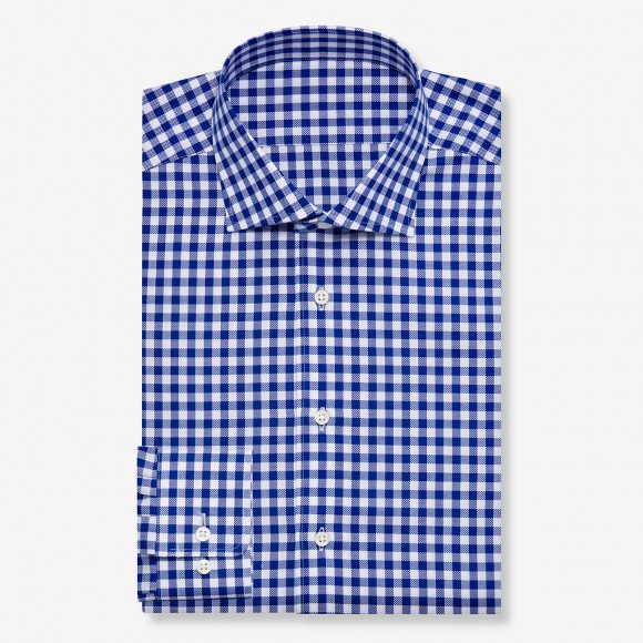The Soft Gingham Check(blue) シャツ