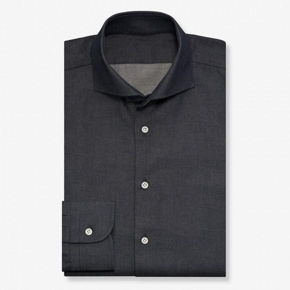 The Kuroki Classy Denim(indigo black) シャツ