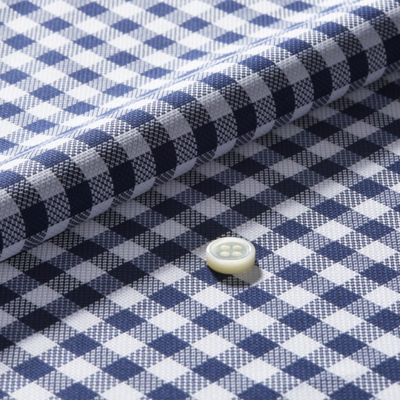 The Soft Gingham Check(black) 生地
