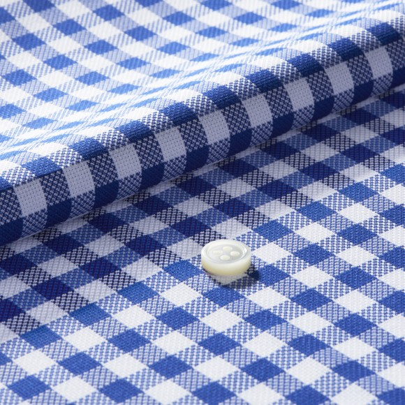 The Soft Gingham Check(blue) 生地