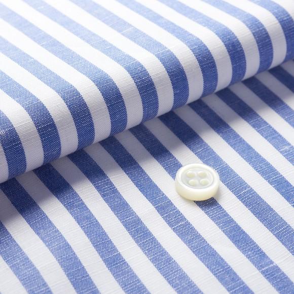 The Linen Cotton Stripe(blue white) 生地