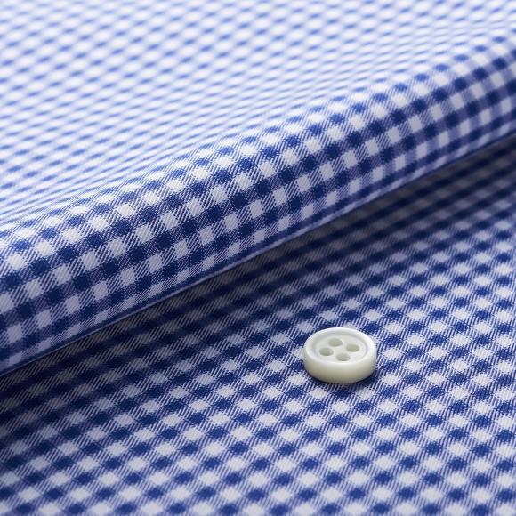 The Fluffy Check(blue white) 生地