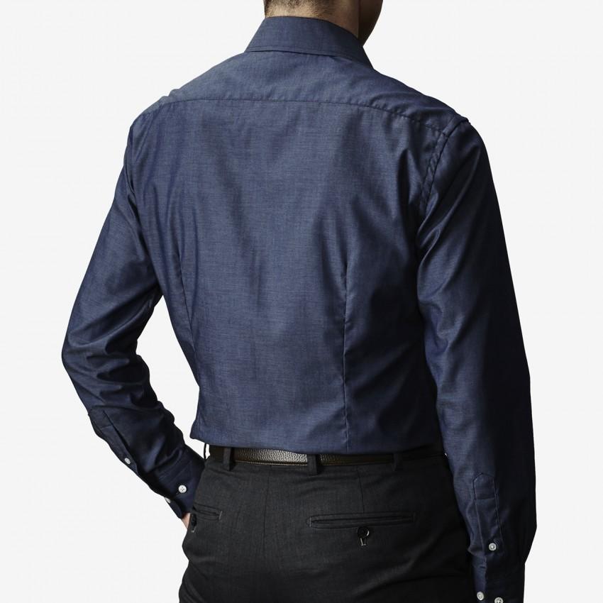 The Regular Broad(dark blue) シャツ着用後ろ