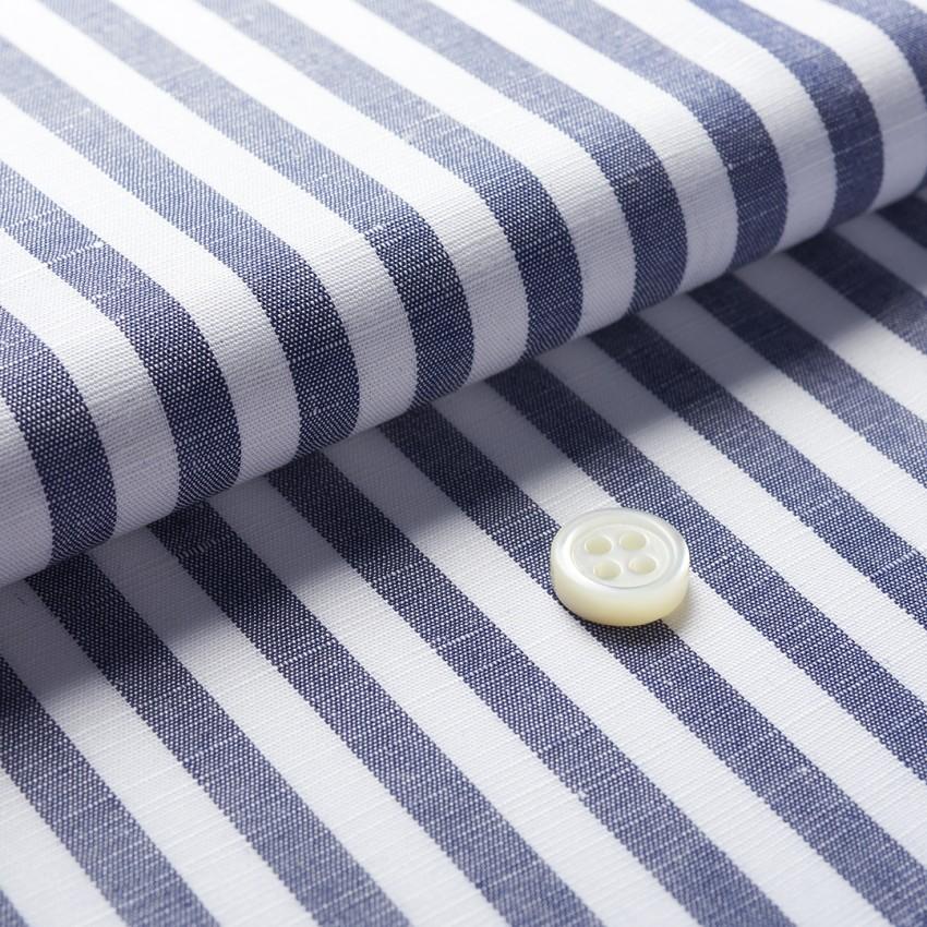 The Linen Cotton Stripe(dark grayish white) 生地