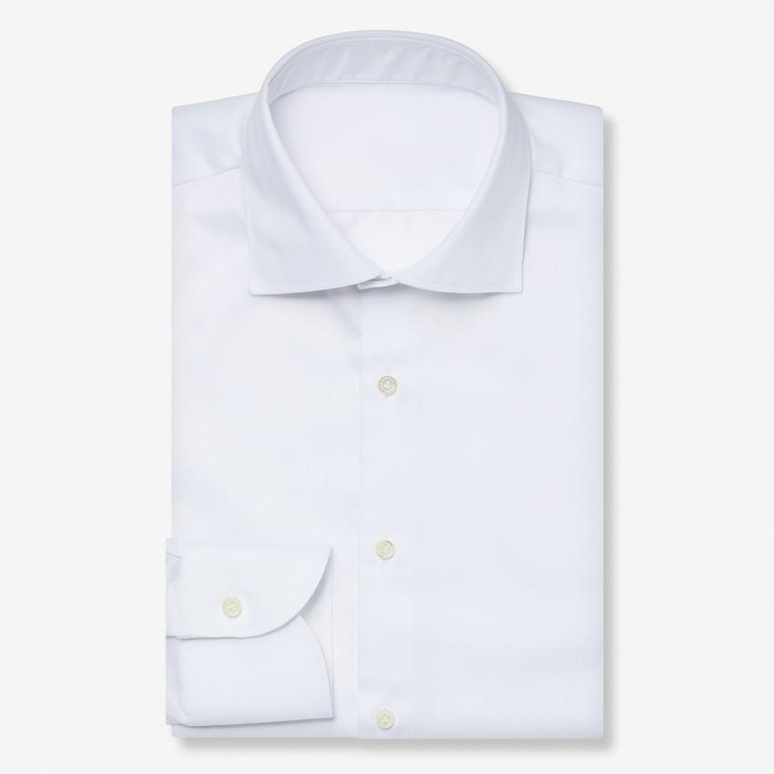The Dressy Herringbone(white) シャツ