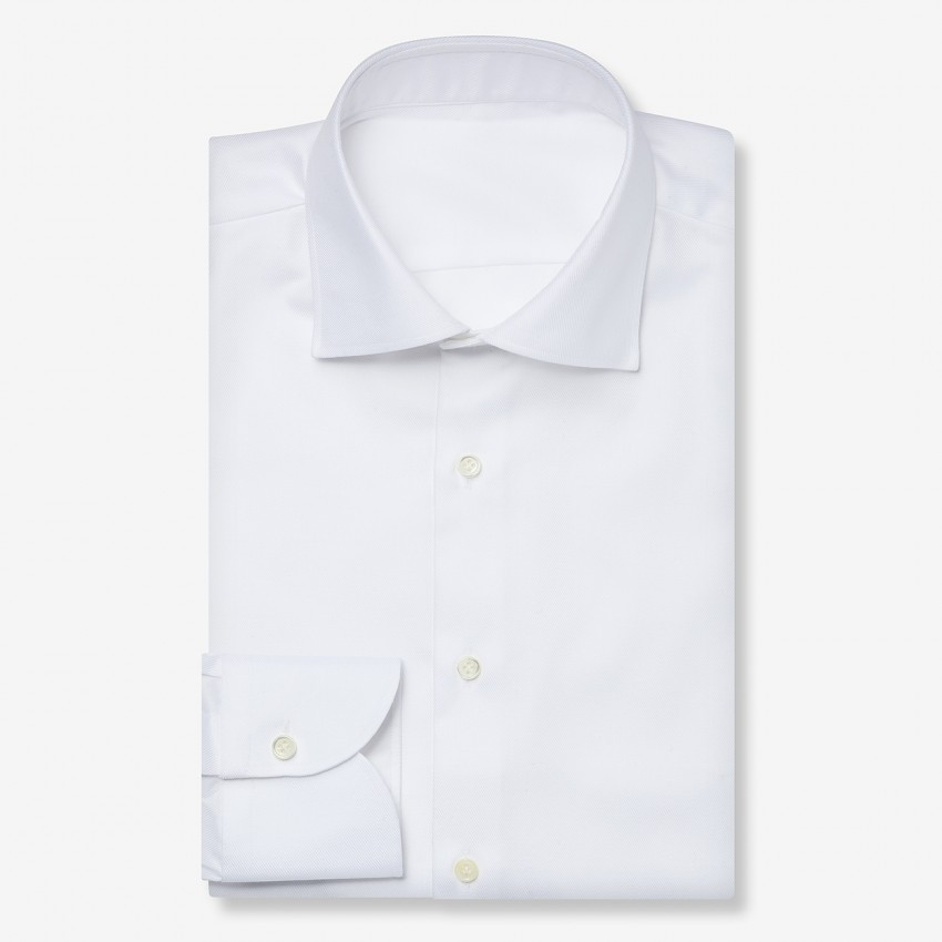The Natural Stretch Twill(white) シャツ